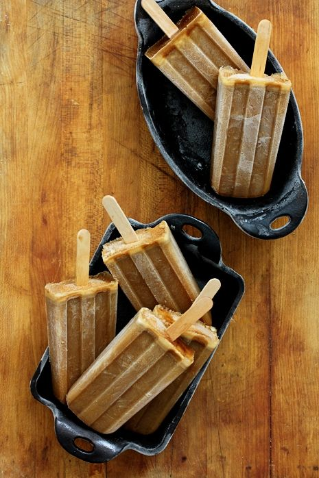 Bourbon Butterscotch Coffee Popsicles