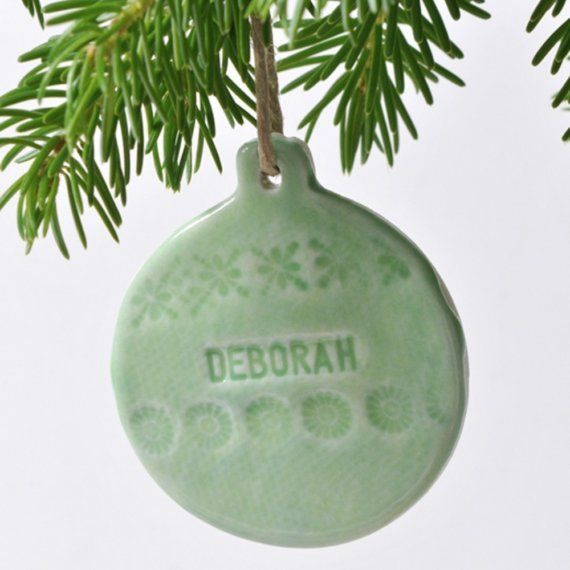Personalized Porcelain Bauble Decoration by joheckett on Etsy, £14.00