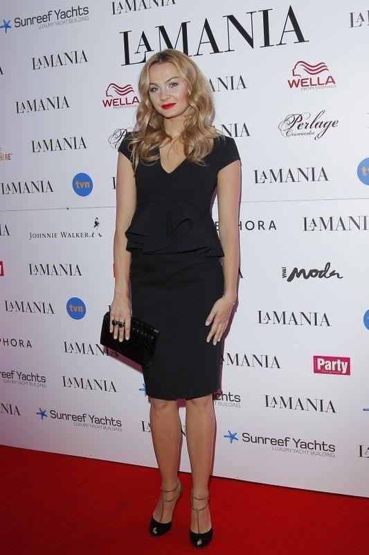 Małgorzata Socha w sukience La Mania na pokazie La Mania (fot. Akpa)