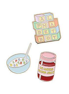 With all your alphabet toys You won the spelling bee now, But are you smarter than me now? We don't need to spell it out for you...this Melanie Martinez enamel pin set from Alphabet Boy is the smartest thing we've ever seen. Alloy; enamelImported