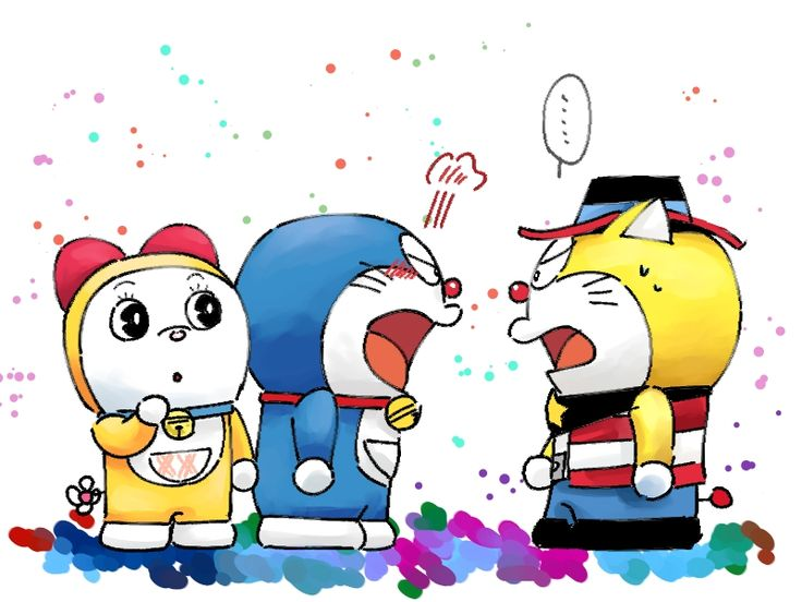 I get a vibe that Doraemon actually being tsundere to Kid in here....