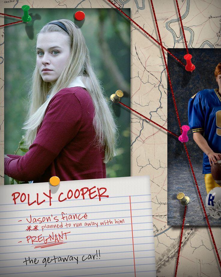 Polly Copper - Noiva do Jason ** planejou fugir com ele, grávida. O carro de fuga!!