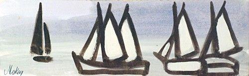 Markey Robinbson 'Sailboats' #art #IrishArt #sailboats #DukeStreetGallery