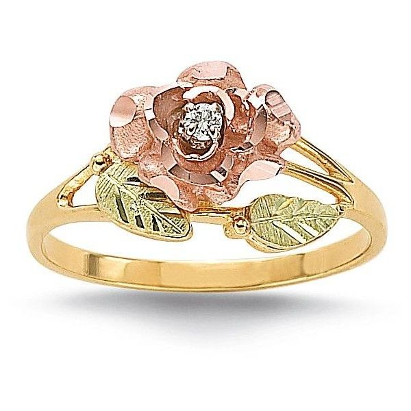 Black Hills Gold® Diamond Accent Rose Ring ❤ liked on Polyvore