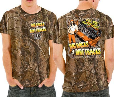 Dirt Late Model Racing Men's Realtree Camo T Shirt from Dirty Girl Racewear