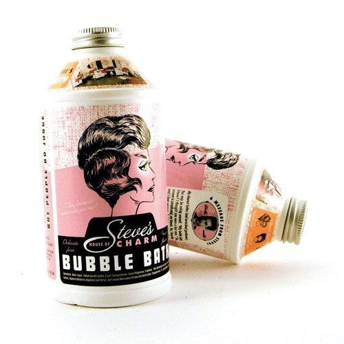 Creative retro packaging: Bubble Bath