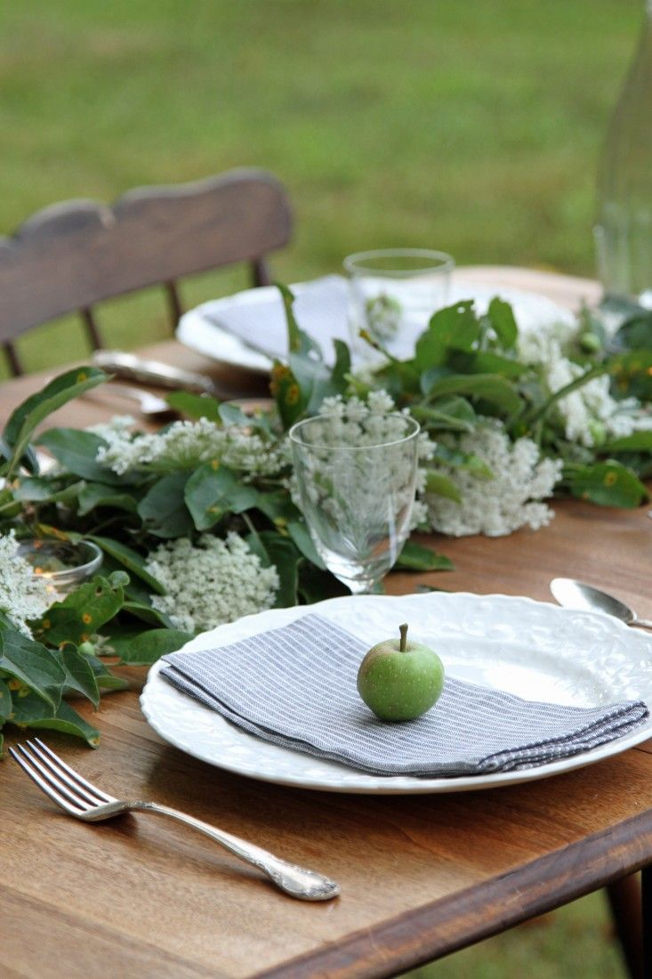 Use what's in your garden to create a magical nature-inspired table setting.