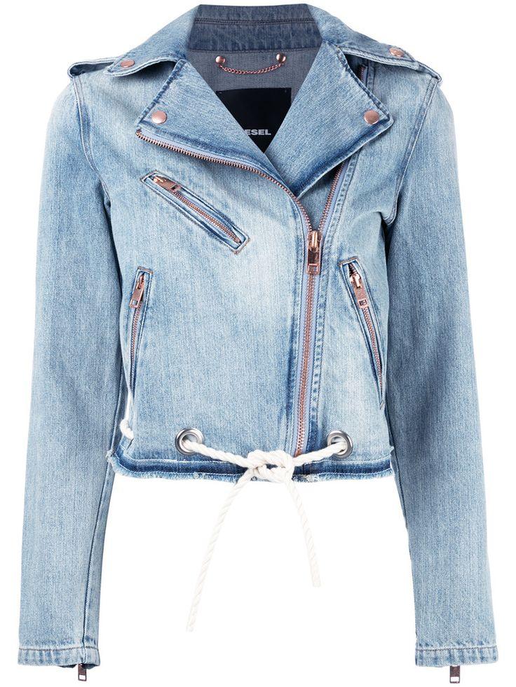 ¡Cómpralo ya!. Diesel - Biker Denim Jacket - Women - Cotton - L. Blue cotton biker denim jacket from Diesel. Size: L. Gender: Female. , chaquetadecuero, polipiel, biker, ante, antelina, chupa, decuero, leather, suede, suedette, fauxleather, chaquetadecuero, lederjacke, chaquetadecuero, vesteencuir, giaccaincuio, piel. Chaqueta de cuero  de mujer color azul marino de Diesel.