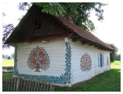 Painted village, Zalipie, Poland