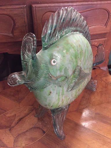 PESCE VETRO DI MURANO ANNI'30 BAROVIER TOSO  FISH MURANO GLASS ITALY '30s