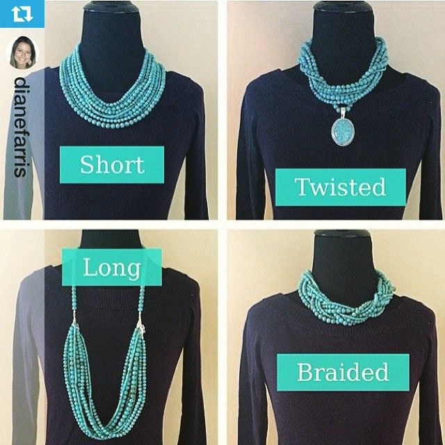 """#Pdstyle repost from @dianefarris ・・・ Loving our NEW Acapulco Necklace!! First, turquoise is the one color that looks great on everyone! Second, check out…"""