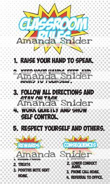 Superhero Classroom Rules by TeachingwithClass on Etsy
