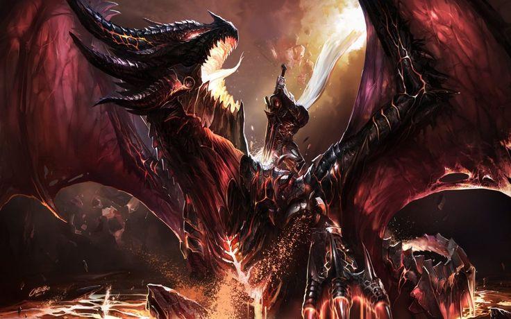 Uccidere deathwing, chenbo, mondo di warcraft, wow, fanart, drago, battaglia, fanart, lotta, fuoco File vettoriale - ForWallpaper.com