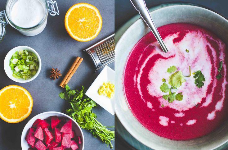 Beetroot Coconut Soup - www.madelinelu.com: