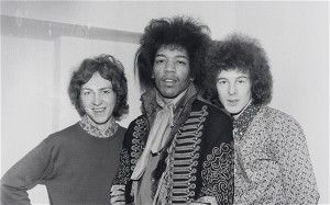 Mitch Mitchell, Jimi Hendrix and Noel Redding of the Jimi Hendrix Experience.