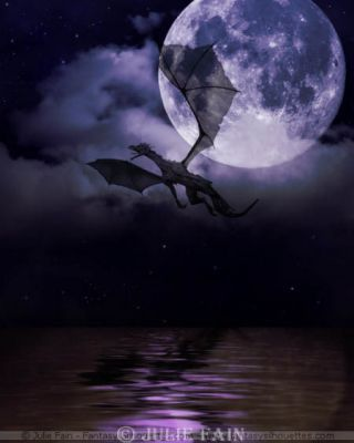 At night, the dark dragon spreads it wings and dives into the sky, finally showing itself to the world. -Zwaluws-