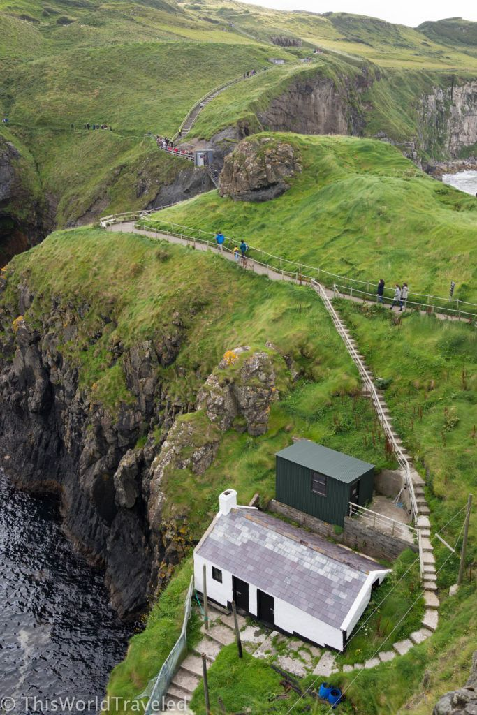 The views after you cross the Carrick-a-Rede rope bridge in Northern Ireland