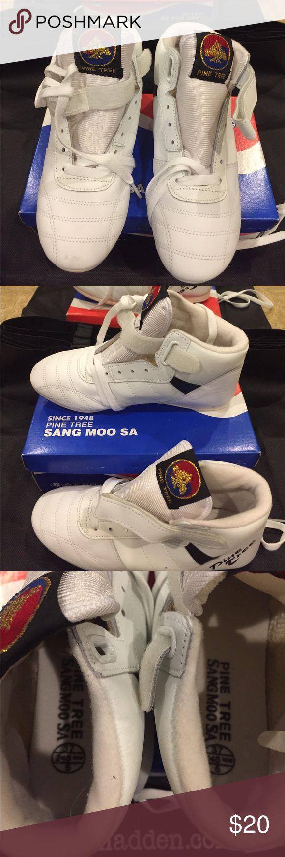Taekwondo shoes Brand new Pine Tree Sang Moosa size 5 taekwondo shoes. With box. Pine Tree Sang Moo Sa Shoes Athletic Shoes