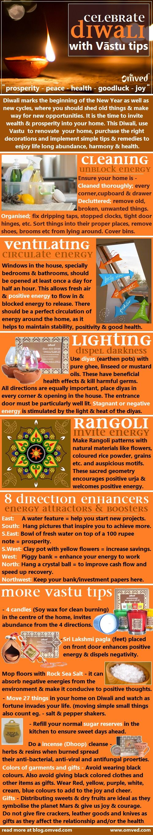 DIWALI VASTU - Although people follow the traditional way of celebrating Diwali, they can reap much more, if they just adapt the principles of Vastu to the traditional way. Vaastu, the science of placement, can be put to good use in your home and workplace on Diwali day, not only to bring positivity inside, but also to receive the blessings of the reigning deities of this festival.