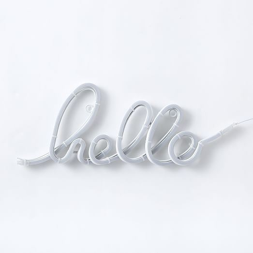 LED Light-Up Word Objects - Hello #westelm