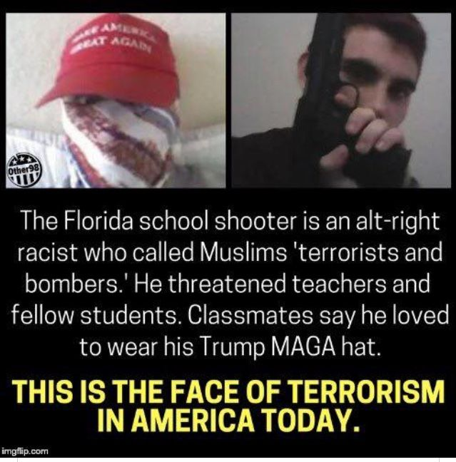 THIS IS THE HATE trump ENCOURAGED AND CONDONED!! We saw it at those God Awful Racist Rallies Of His and we even see it everyday here on Pinterest when they leave Vile, Hateful and Violent Comments. Mass Shootings & Hate Crimes like Charlottesville and Elsewhere have been on the rise since trump!!! THIS is what happens when you Speak Hate!! Look at Our Country Now!!!