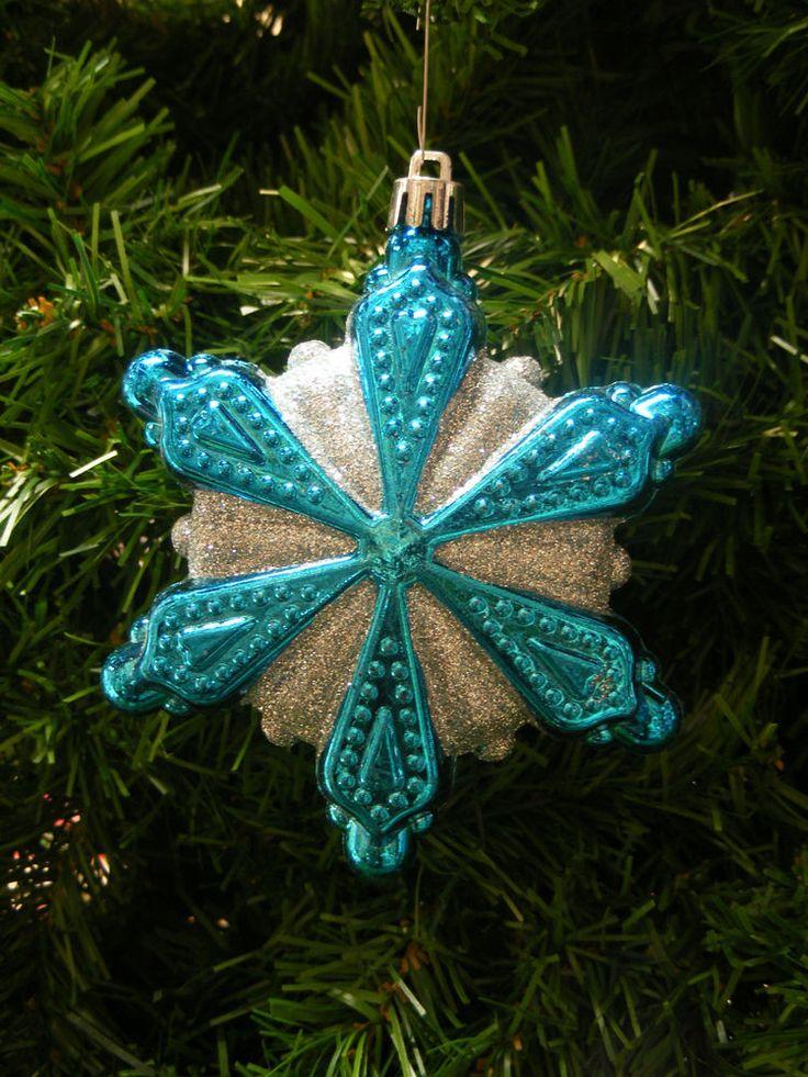 Turquoise Christmas Garland