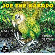 Joe the Kakapo. Joe the Kakapo lives all on his own on an island way down south of New Zealand. One night he went exploring and fell down a slippery track. Poor stranded Joe had broken his toe! Who will come and rescue him? A rhyming picture book by award winning New Zealand author Janet Martin with illustrations by Ivar Treskon. Made in New Zealand for ages 2-6.  See more at www.entirelynz.co.nz/gifts