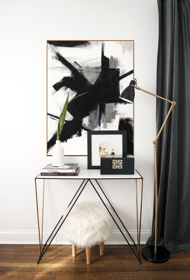 Black and white abstract art: a history lesson { Franz Klein inspired } — The Decorista