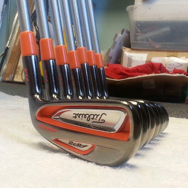 Custom Black Chrome Golf Clubs - Tiger Nick Golf - Golf Club Refinishing