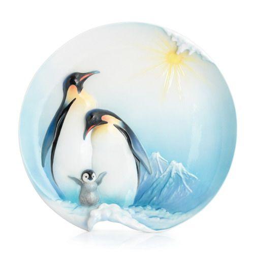 Franz Porcelain Playful Penguins Large Tray.