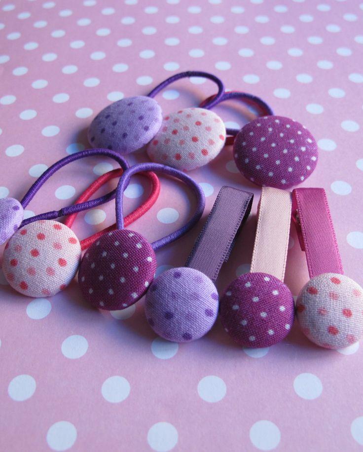 Alligator clips and elastic (purple)