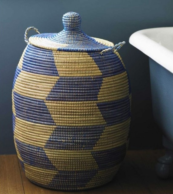 cant get enough of these african woven baskets # vivaterra.com $198