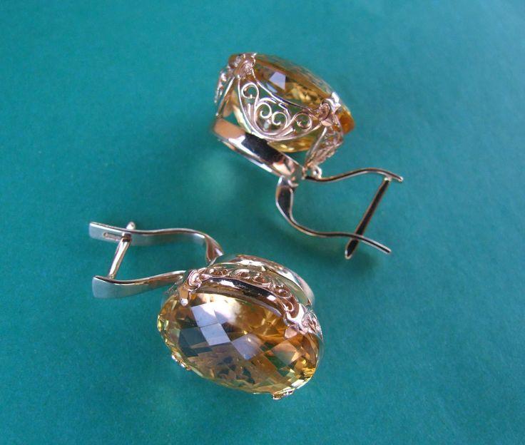 Серьги с большими топазами для IG -  Earrings with greater topaz for IG