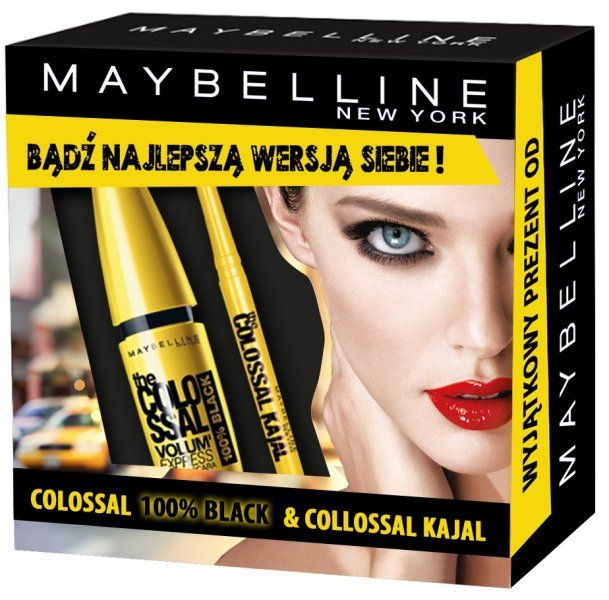 Maybelline Zestaw Colossal Maskara 100 % Black + Eyeliner Kajal | MALL.PL