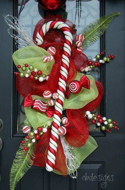 84 best Christmas Wreath Ideas images on Pinterest | Wreath ideas ...