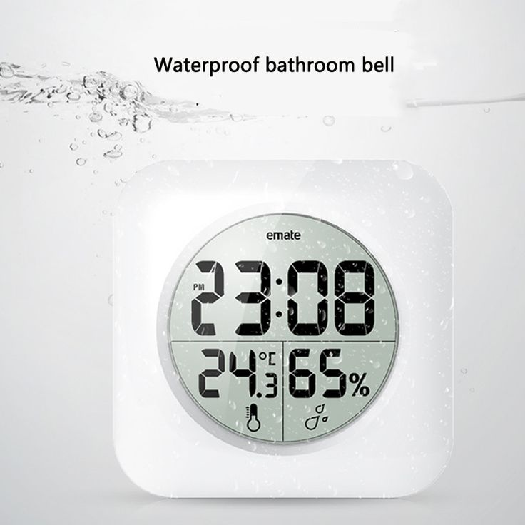 Digital Bathroom Clock Waterproof Relogio de parede Modern Wall Clock Home  Decor Saat Hotel Bathroom Clock. 25                     Bathroom Clocks     Pinterest