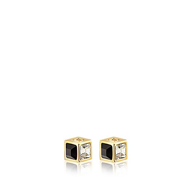Discover Louis Vuitton Gamble Earring Studs:  The Gamble theme playfully interprets the signature of Louis Vuitton's Damier canvas as a glamorous dice motif. The sparkling earring studs are engraved with the LV logo and Monogram flowers.