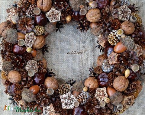 BARNA :)  - őszi termés-koszorú - KÉSZTERMÉK