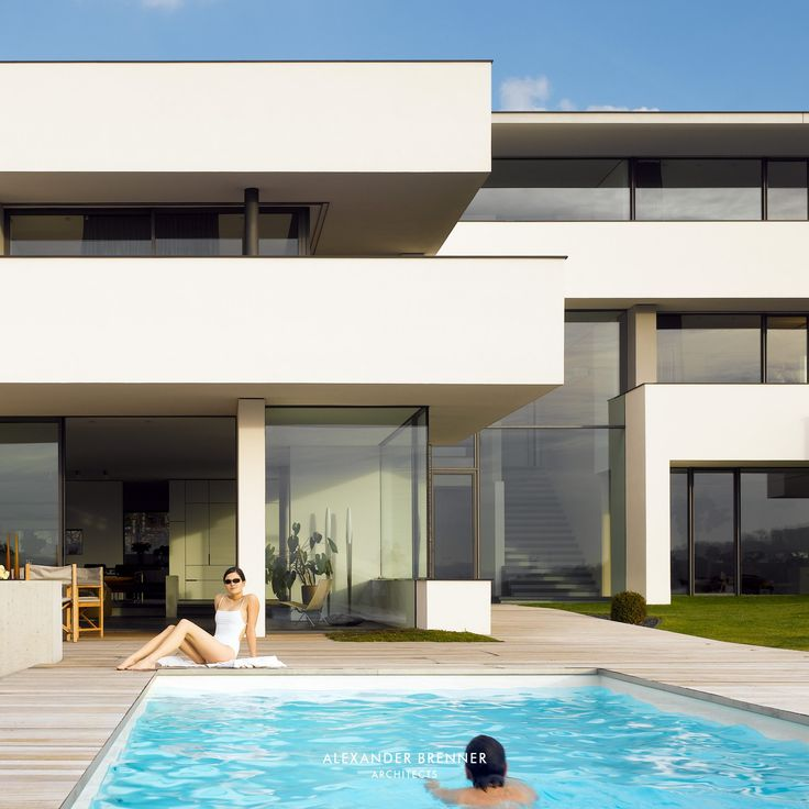 12 best    Feeling at Home in our Houses images on Pinterest - modernes haus mit pool und garten