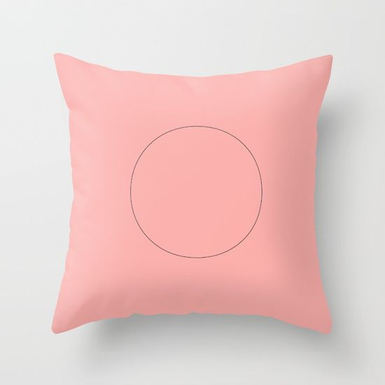 circle Throw Pillow by Bravely Optimistic | Society6