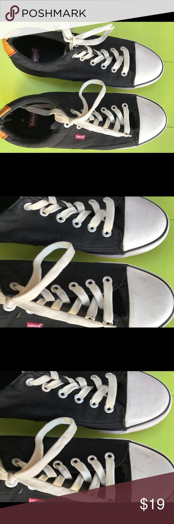 Men's Levi's sneakers converse style shoes size 11 Size 11 Levi's men's sneakers not new but in really good condition at a low low price Levi's Shoes Sneakers