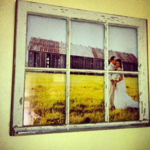 Wedding photo DIY - Window Pane Picture Frame