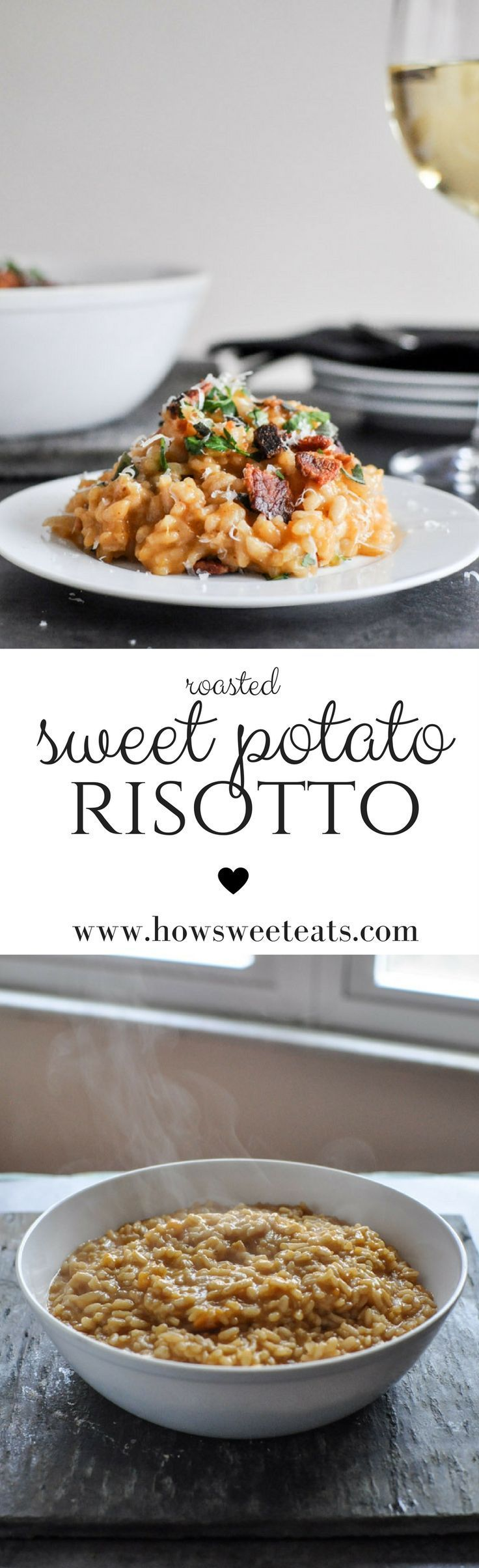 Roasted Sweet Potato Risotto by /howsweeteats/ I http://howsweeteats.com