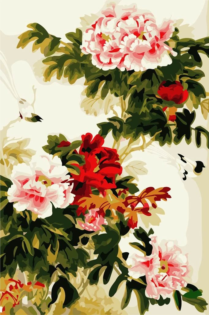 Peony Diy Paint By Numbers Kits YM4050034 in 2020