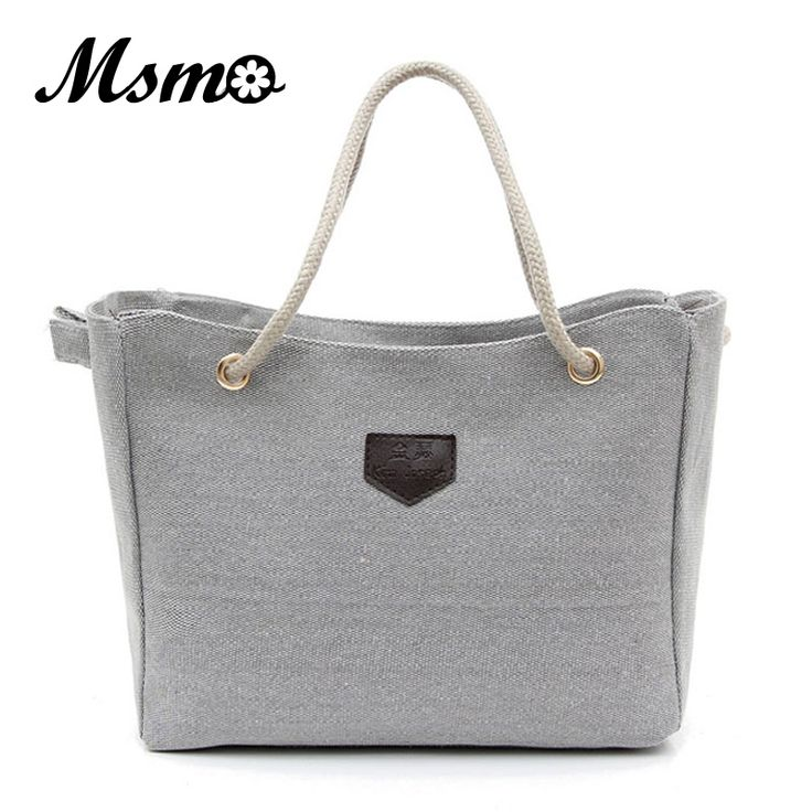 MSMO Hot Sale Canvas bags Single Or Double Rope Shoulder Bags Personality Contracted Large Handbags For Women bolsas femininas