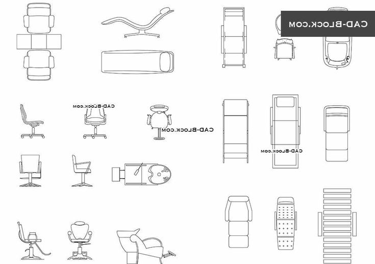 Massage Chair Autocad Block