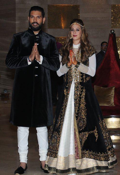 Latest click from Yuvraj Singh- Hazel Keech Mehendi ceremony - http://ift.tt/1ZZ3e4d