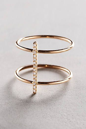 Diamond Cuff Ring in 14k Gold