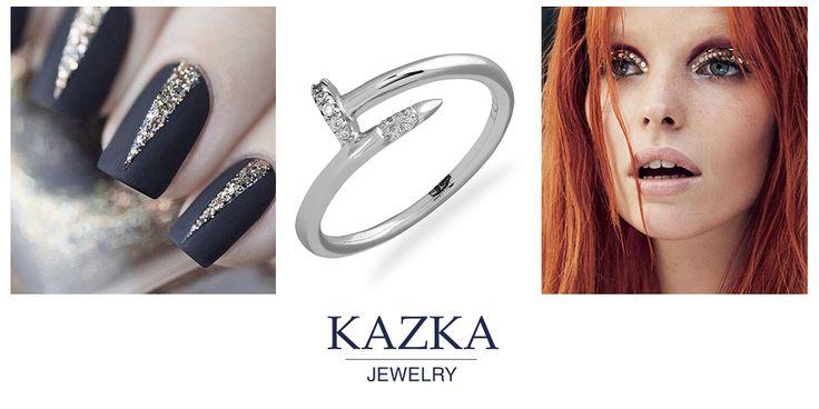 Невероятное кольцо в стиле глэм рок. Позвольте себе быть яркой и неповторимой.   Приобрести со скидкой за 535 грн. http://kazka.ua/serebryanoe-koltso-3k291-0135-3k291-0135/  #kazkajewelry   #украшения_kazkajewelry   #jewelry   #silve   #ring   #украшения   #серебро   #кольца   #новыйгод   #подакри