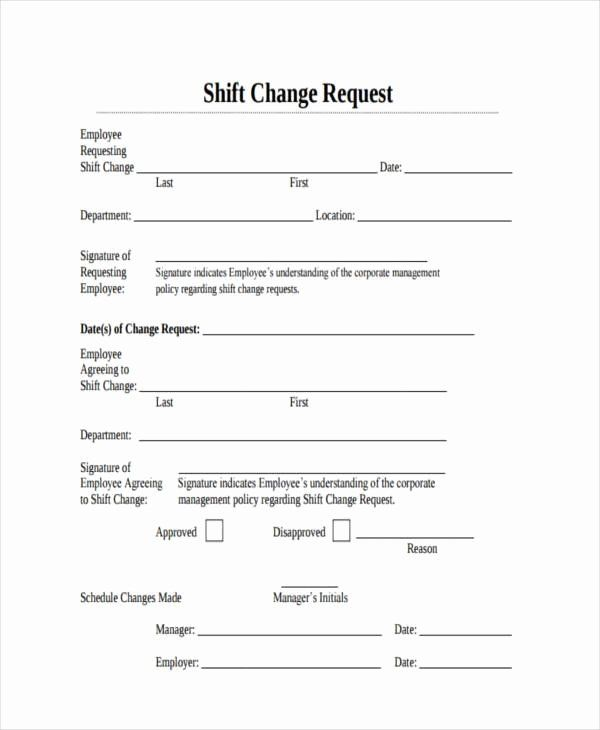 Sample Change Request Form Inspirational Sample Employee Shift Change Forms 7 Free Docu Classroom Newsletter Template School Newsletter Template Change Request